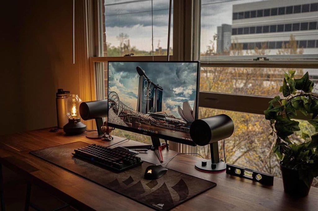 idea de espacio de trabajo en casa